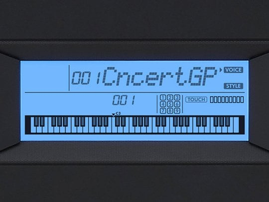 Clear LCD display